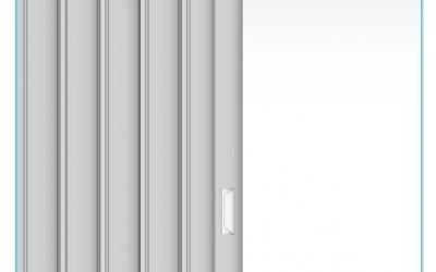 Plastové shrnovací dveře